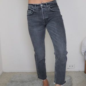 Denim - Mommy jeans Black with buttons